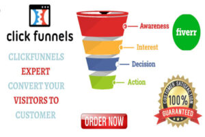 I will build sales funnel in clickfunnels, getresponse, sales copy affiliate marketing