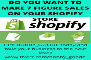 I will design a 7 figure shopify website or shopify dropshipping store